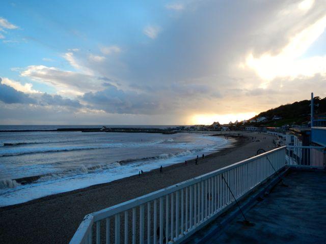 pebbled beaches (Lyme Regis)