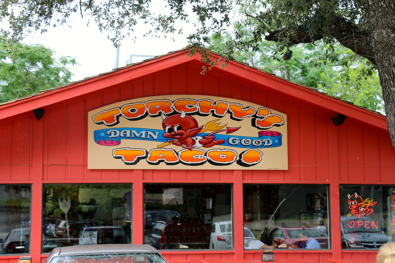 Torchy's for breakfast tacos