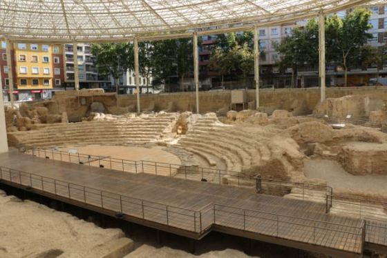 recently excavated Roman amphitheater