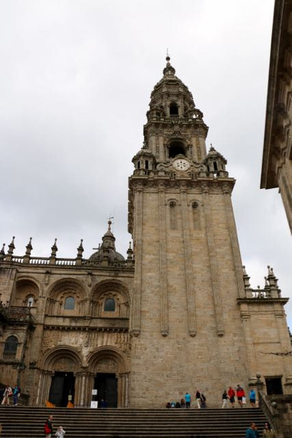 The cathedral of St. James in Santiago, the culmination of a 450-mile pilgrimage for some.