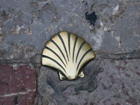 The symbol of the Camino de Santiago, to keep pilgrims on the right path