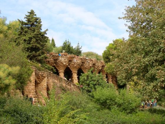 Gaudí designed the columns that support the terraces to look like tree roots