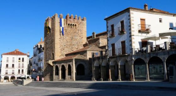 el Casco Viejo (Old City) in Cáceres