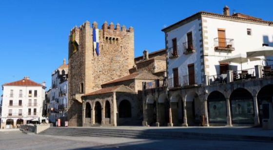 el Casco Viejo (Old City) in Cáceres