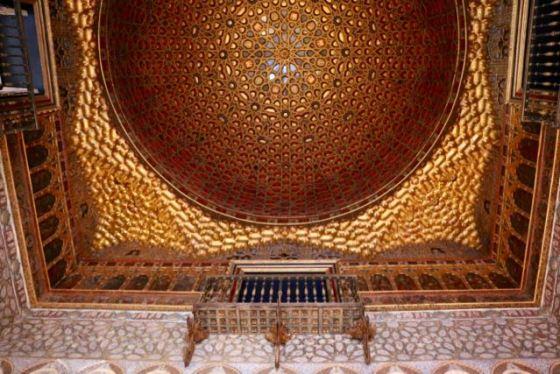 """""""half-orange"""" ceiling installed by Carlos V"""