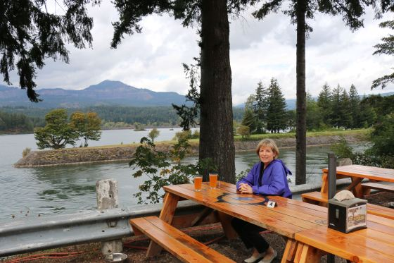 Lunch at Thunder Island Brewing in Cascade Locks. All that history and gorge-ous scenery works up a thirst!