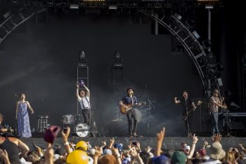 """The Lumineers had the crowd singing along to hits """"Ho Hey"""" and """"Ophelia."""" (Photo credit: BottleRock Napa Valley / Latitude 38 Entertainment)"""