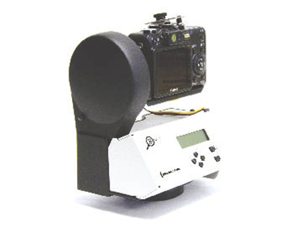 The Gigapan robotic platform holds a digital camera.