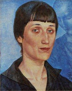 Anna Akhmatova, by Kuzma Petrov-Vodkin. 1922.