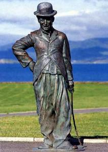 Statue of Charles Chaplin. Waterville, Ireland. Photo by Alan Hall