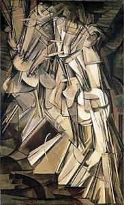 Marcel Duchamp's Nude Descending a Staircase. 1912