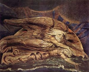 William Blake's Elohim Creating Adam. 1795