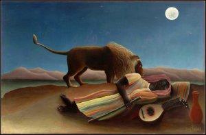 The Sleeping Gypsy, by Henri Rousseau. 1897