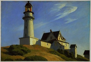 The Lighthouse at Two Lights. By Edward Hopper. 1929