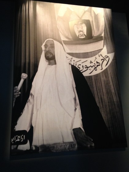 Sheikh Zayed, founder of the United Arab Emirates. http://www.uae-embassy.org/uae/history/sheikh-zayed-bin-sultan-al-nahyan-founder-uae