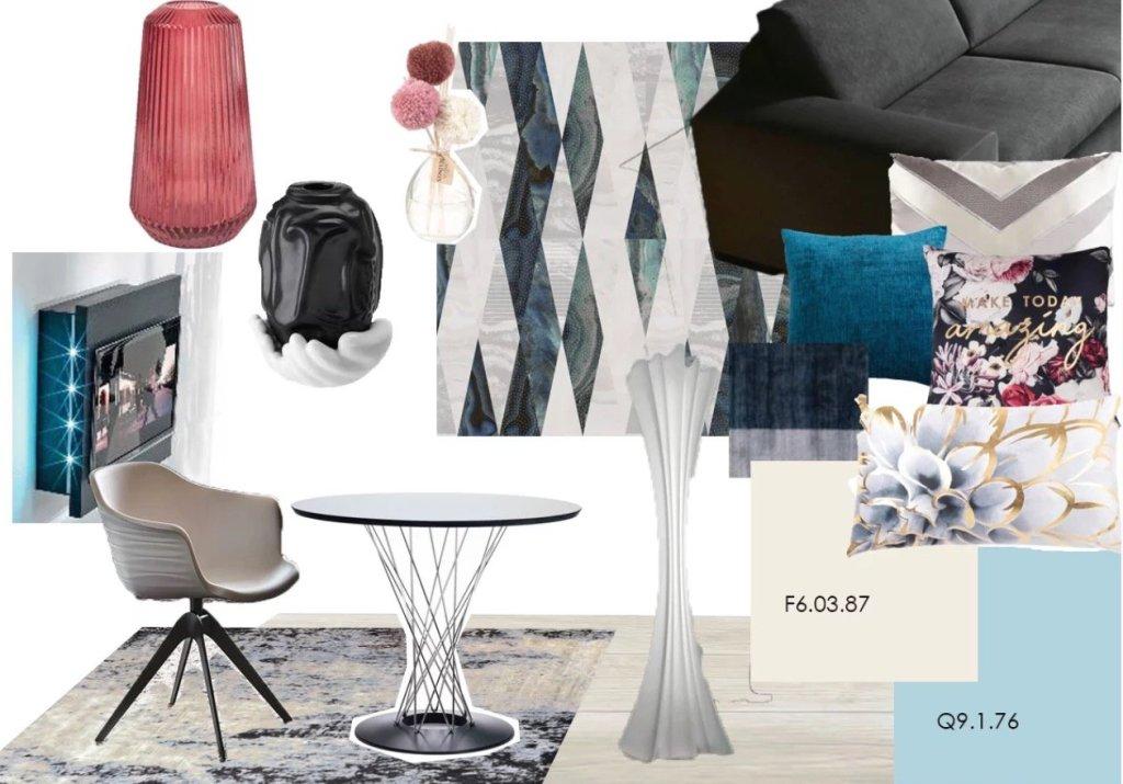 Moodboard beige e blu | SP interior Design consigli e ispirazioni