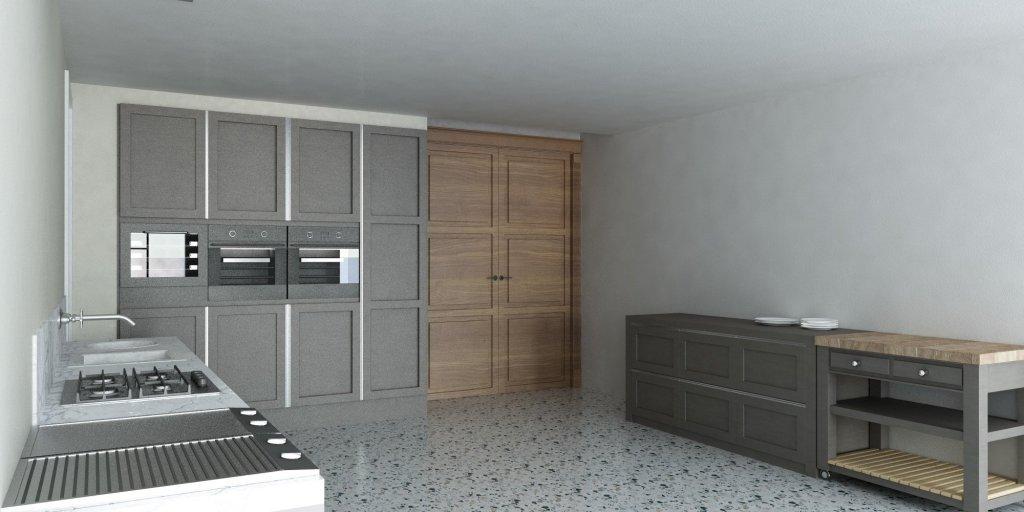 Render Cucina Classico Veneziana altra prospettiva   SP interior Design