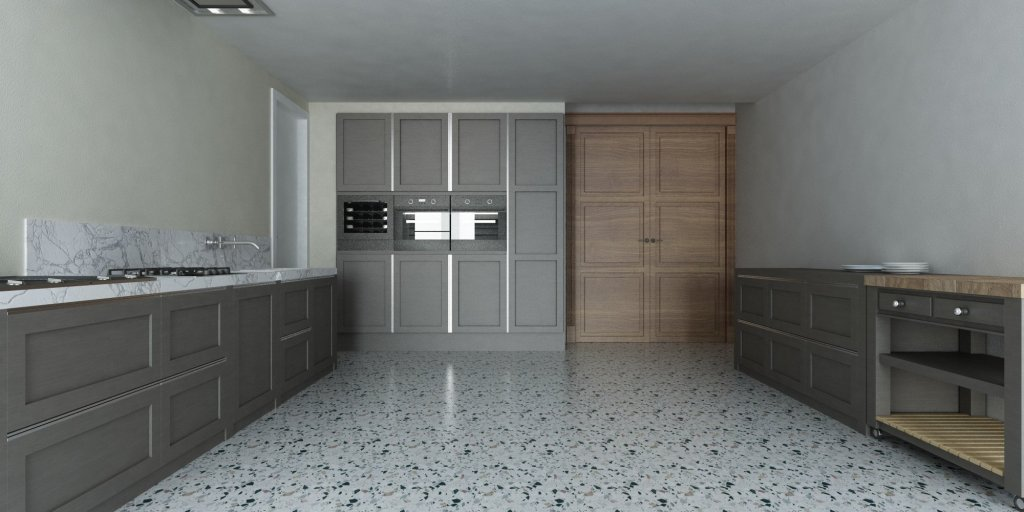 Render Cucina Classico Veneziana | SP interior Design