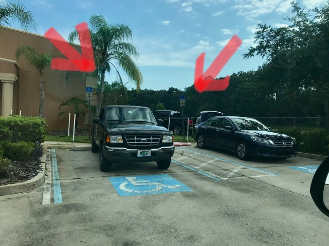 handicap accessible parking violation