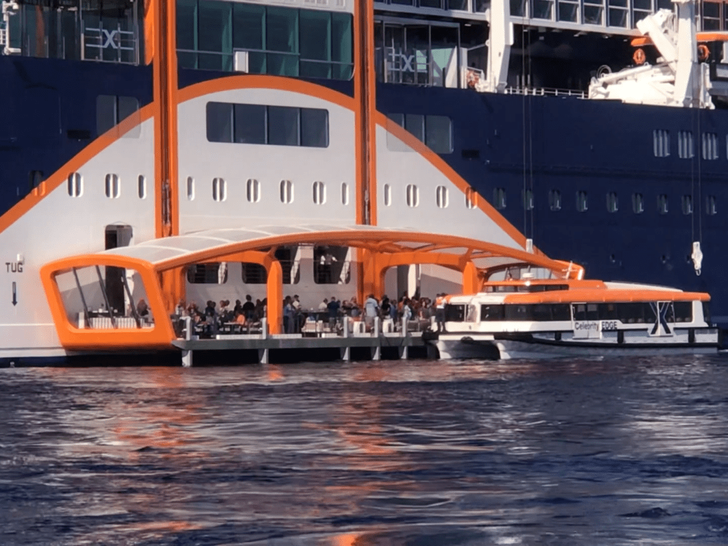 Wheelchair Accessible Cruise Ship Tendering on the Celebrity Edge Magic Carpet