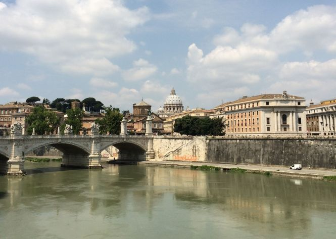 View of the Vatican from Lungotevere Tor di Nona, 00186 Roma, Italy