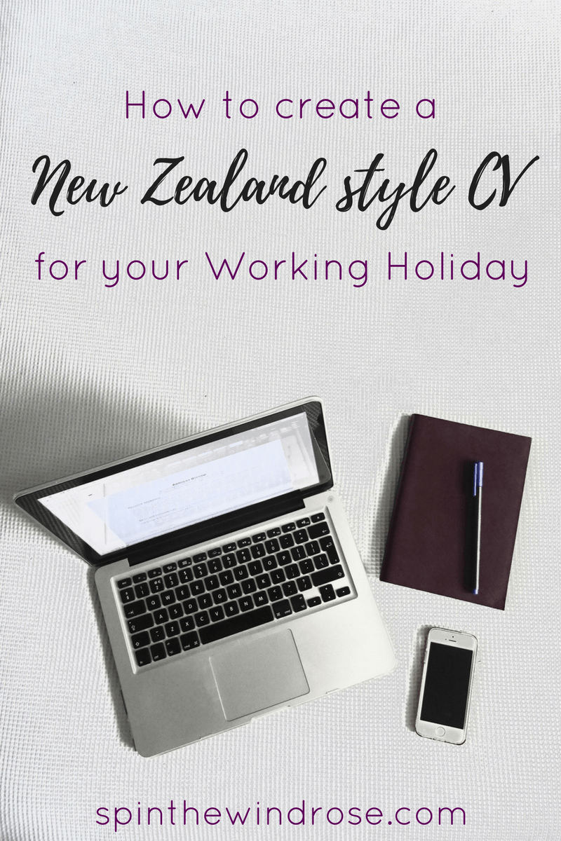 how to write a cv for a working holiday to new zealand