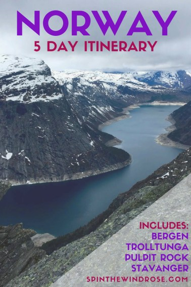 5 Day Norway Itinerary - spinthewindrose.com