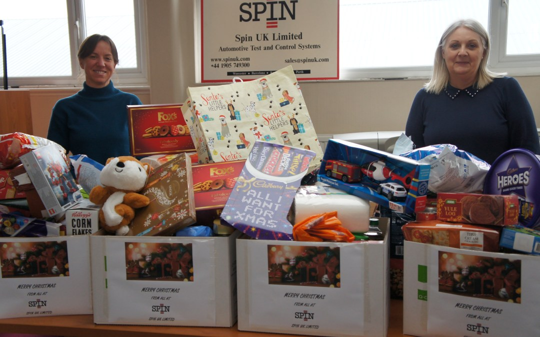 Worcester Foodbank collection Spin UK