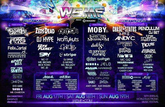 WEMF 2012 - full line up