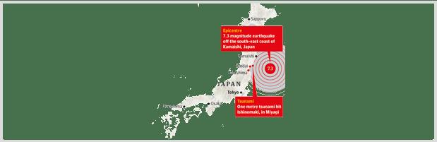 Bannière Séisme Fukushima