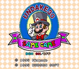 UNDAKE 30 Same Game Daisakusen Mario Version Sample 01