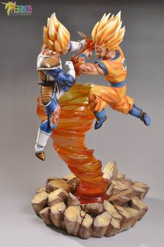 Son Goku Super Saiyajin Vs Vejita Super Saiyajin