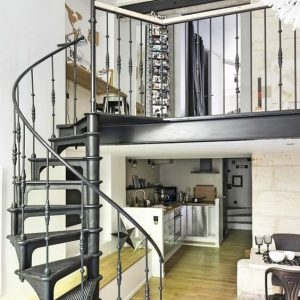 Paris French Cast Iron Spiral Stairs | Antique Spiral Staircase For Sale | French | Wooden | Old Fashioned | Wood Antique | Cast Iron