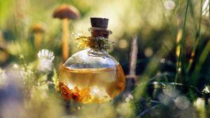 Potion magique fiole d'eau sacrée