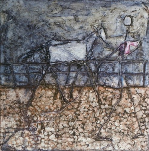 Man and Horse by Phil Cotterill