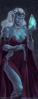 Drow Wizardess and familiar