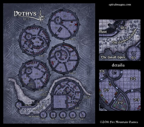 Map of Vothys - a drow outpost