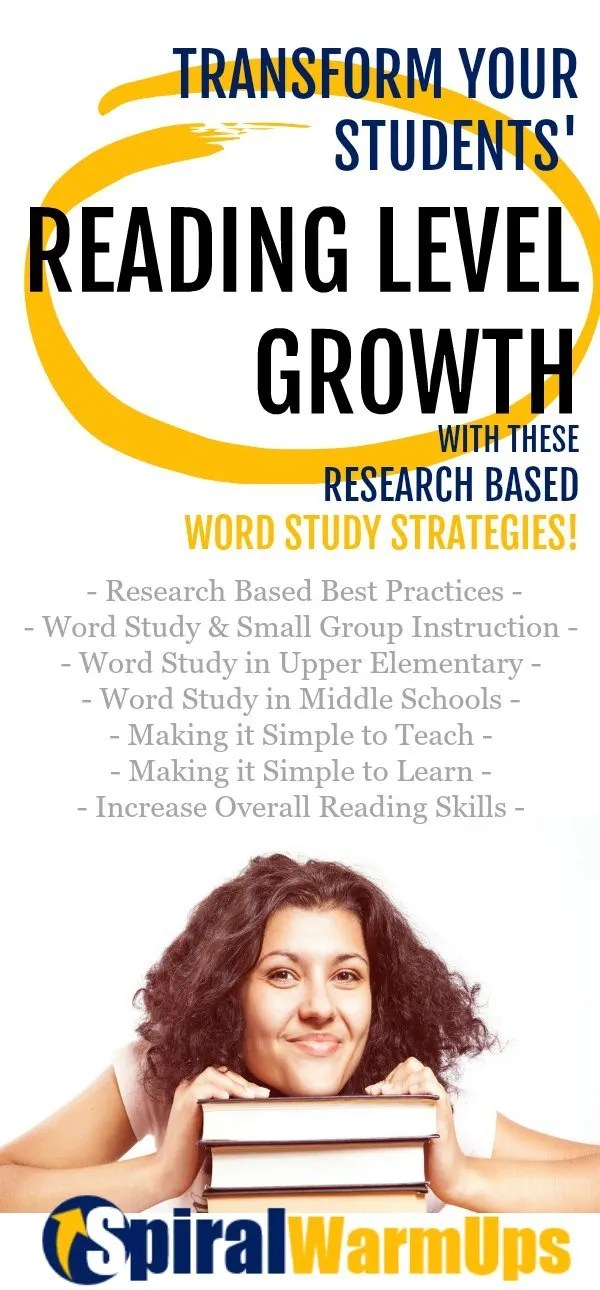 What word strategies create the largest gains in reading levels?