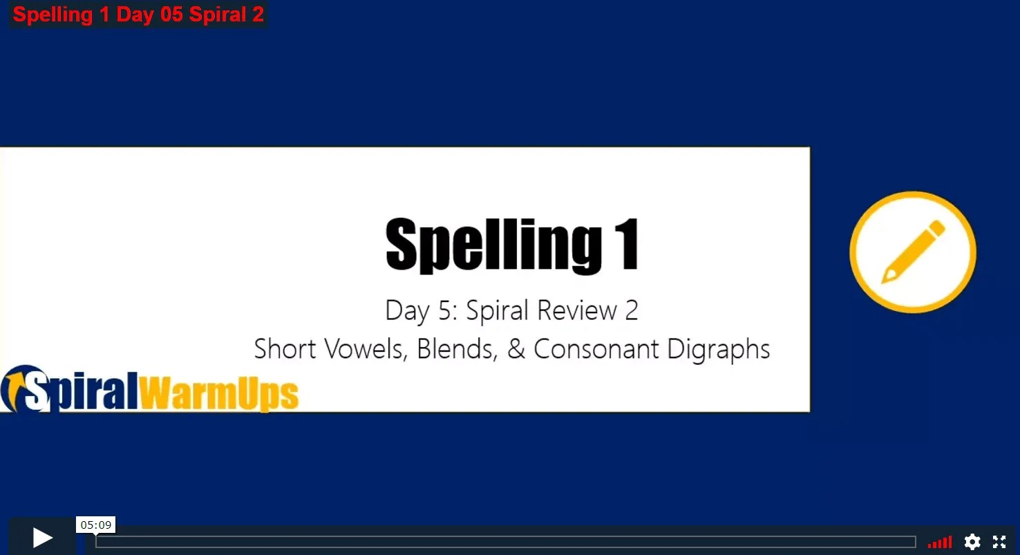 New Warm Ups Spelling 1 Is Finished Free Word Study