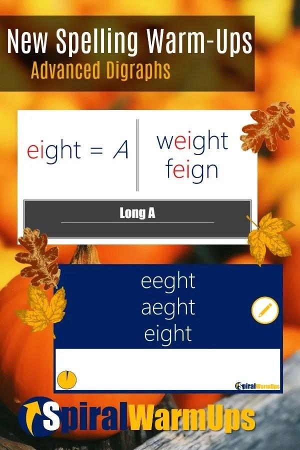 Free Spelling Warm-Ups
