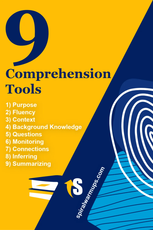What are the 9 comprehension tools?
