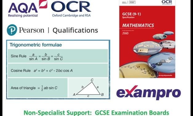 Non-Specialist Teachers: GCSE Exam Boards