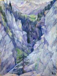 Anita Rée - canyon at Pians (1921)