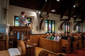 Bishop Marty delivers his sermon Image credit: Gary Allman