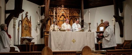 On the afternoon of Sunday October 22, 2017, Confirmations and Reaffirmations into the Episcopal Church were held at St. John's in Springfield. Churches taking part were: Christ Episcopal Church, Springfield and St. John's Episcopal Church, Springfield. Image credit: Gary Allman