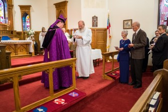 The Installation of the Rev. Dr. James Lile, Jr. as Rector at All Saints' Episcopal Church, Nevada, Missouri Image credit: Gary Allman