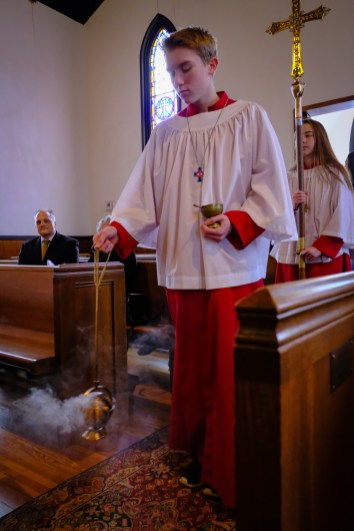 Thurifer (acolyte carrying a censer) Image: Gary Allman