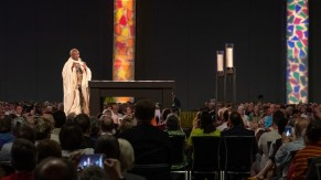 Presiding Bishop Michael Curry at the opening Eucharist. Image: Gary Allman
