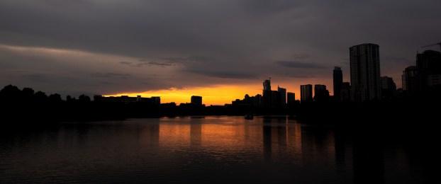 Sunset on the Colorado River, Austin, Texas. Image: Gary Allman