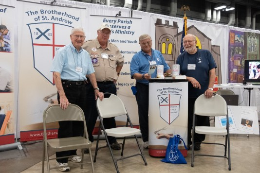 These guys were manning The Brotherhood of St. Andrew Stand in the exhibition hall. Image: Gary Allman